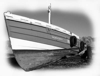 Coble at Beadnell Harbor