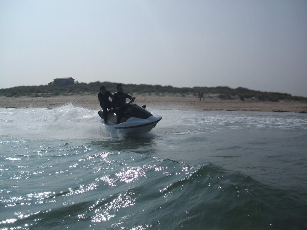 Jetbike at Beadnell Bay